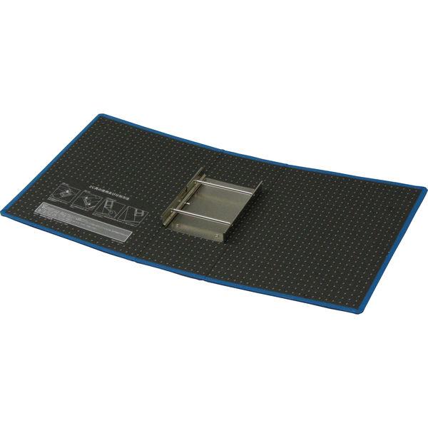 ハピラ 片開きパイプ式ファイル A4タテ とじ厚100mm ブルー SG03549 1箱(12冊入)