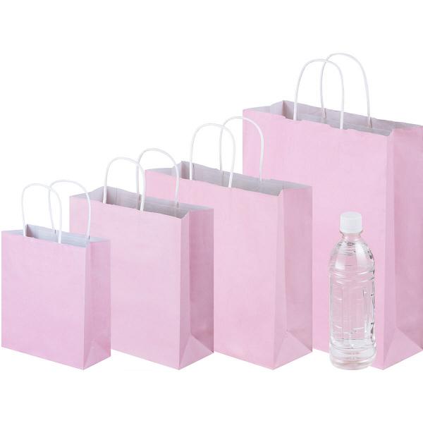 丸紐 手提げ紙袋 ピンク S 50枚