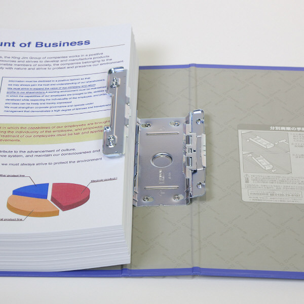 キングジム スーパードッチGXシリーズ A4タテ とじ厚50mm 3冊 黒 キングジム 両開きパイプファイル 1475GXクロ