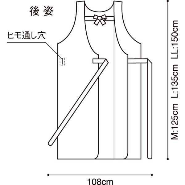 入浴介護用エプロン/L・ブルー 403306-10 1枚 フットマーク (取寄品)