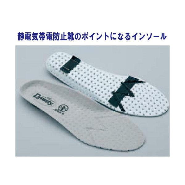 ドンケル R9209032010 静電気帯電防止靴 ダイナスティ SDー11 白25.5cm 1足 (直送品)
