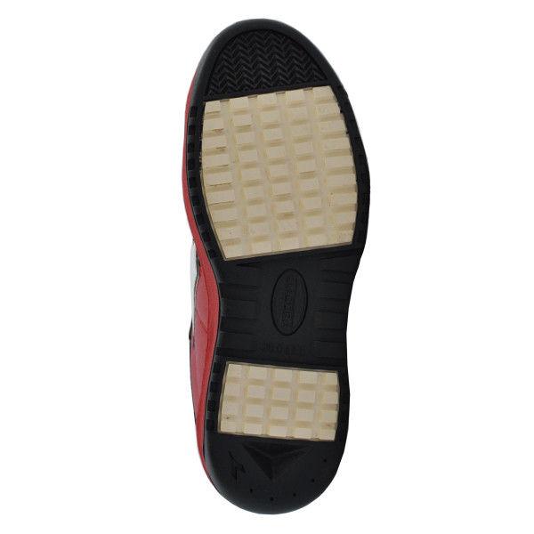 ドンケル R209014409 ディアドラ安全作業靴 キーウィ KWー213黒&ホワイト&レッド 25.0cm 1足 (直送品)