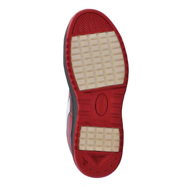 ドンケル R209014905 ディアドラ安全作業靴 エミュー EMー213黒&ホワイト&レッド 23.0cm 1足 (直送品)