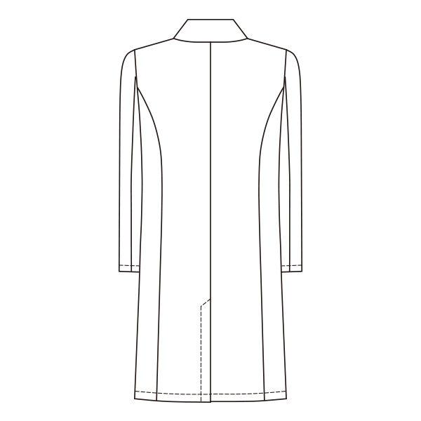 オンワード 白衣 メンズドクターコート(シングル 診察衣) CO-6005 ホワイト L (取寄品)