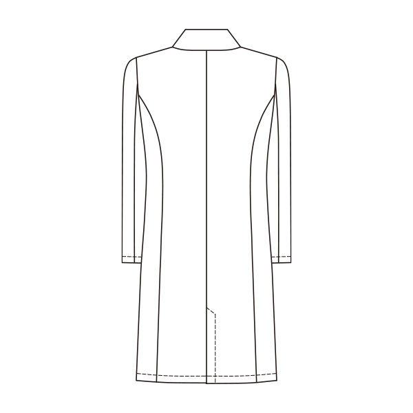 オンワード 白衣 レディスドクターコート(シングル 診察衣) CO-6006 ホワイト L (取寄品)