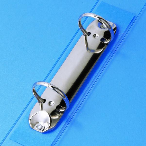 ハピラ リングファイル丸型2穴 A4タテ 背幅40mm カラバリ ブルー