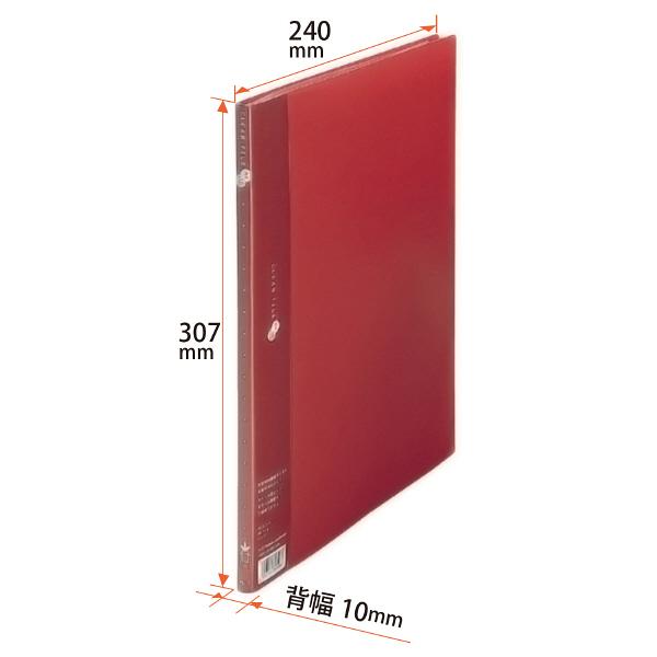 プラス スーパーエコノミークリアーファイル A4タテ 10ポケット レッド FC-121EL 88412
