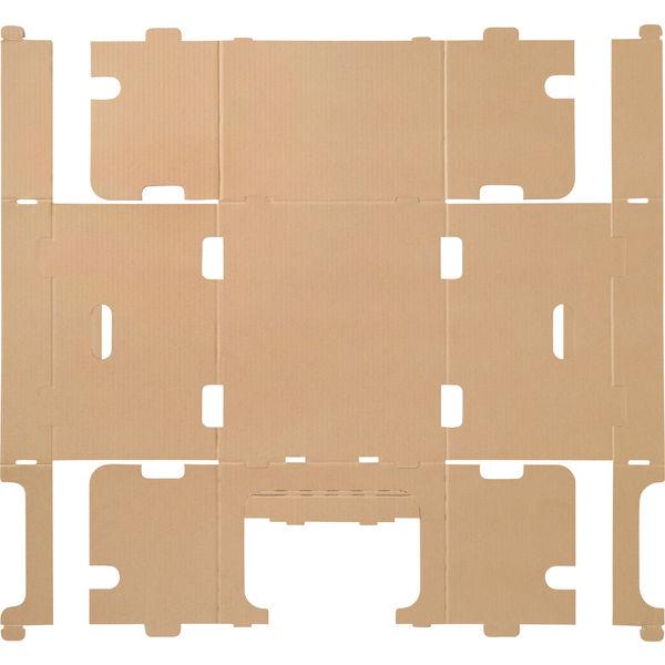 レンゴー 「現場のチカラ」 スタッキング収納箱大 1セット(30個:5個入×6梱包)