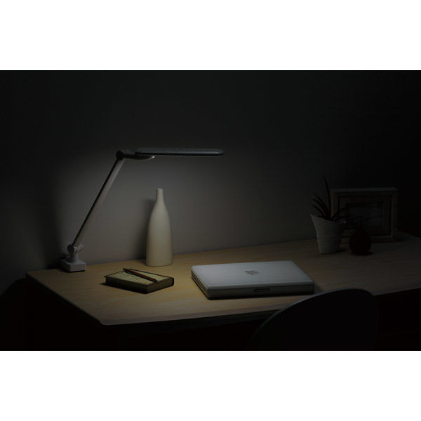 LEDアームライト 白 デスクスタンド LE-H637W ツインバード工業
