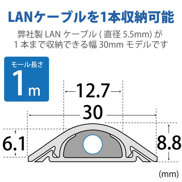 床用モール 長さ1m×幅30mm