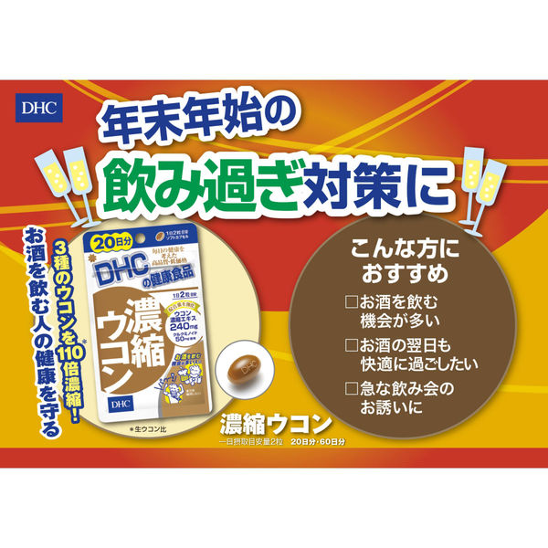 DHC 濃縮ウコン60日分 120粒