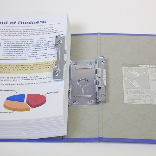 キングジム スーパードッチGXシリーズ A4タテ とじ厚30mm 青 キングジム 両開きパイプファイル 1473GXアオ