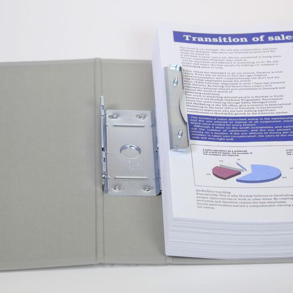 キングファイルG A4タテ とじ厚50mm背幅66mm グレー キングジム 片開きパイプファイル 975N 10冊