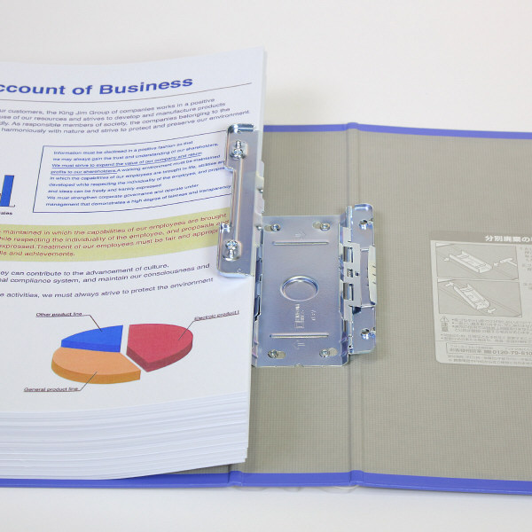 キングジム キングファイル スーパードッチ 青 A4タテ 1476アオ 1セット(3冊)