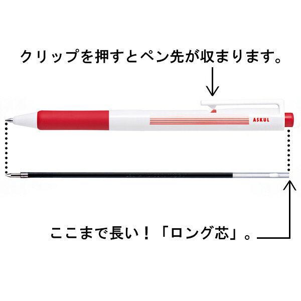 ノック式ボールペン 赤0.7 3本セット