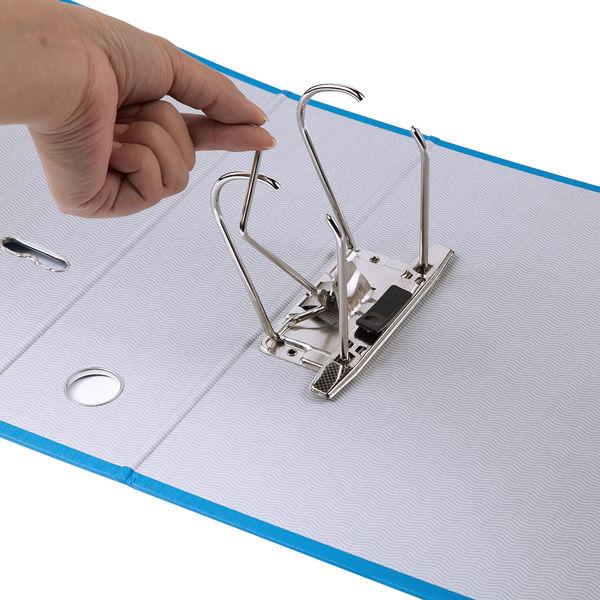 レバー式アーチファイル A4タテ 背幅100mm ブルー SGLAF100BL ハピラ とじ王