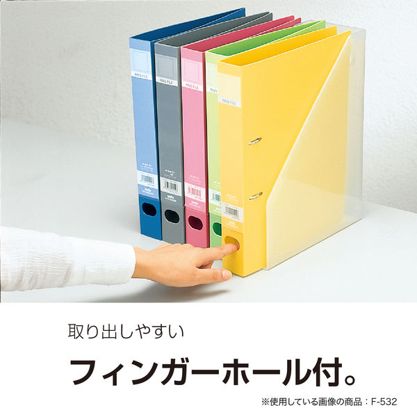 セキセイ ロックリングファイル D型2穴 A4タテ 背幅37mm クリアー F-522-90 30冊