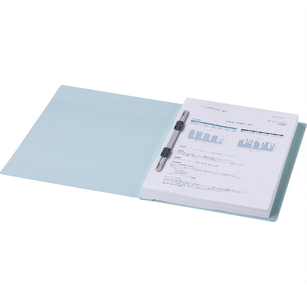 フラットファイル 上質表紙 A4タテ 10冊 ブルー アスクル