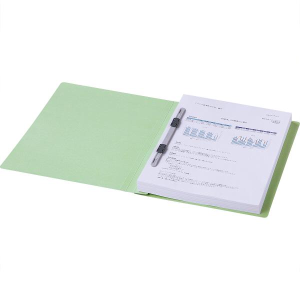 フラットファイル 上質表紙 A4タテ 30冊 グリーン アスクル
