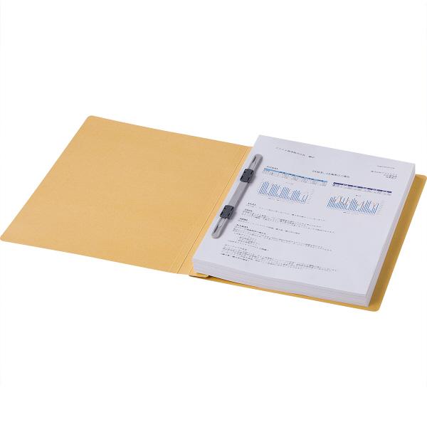 フラットファイル 上質表紙 A4タテ 100冊 イエロー アスクル