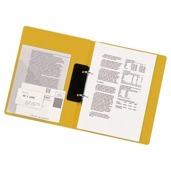 リヒトラブ リングファイル A4タテ 背幅27mm 黄 F867U