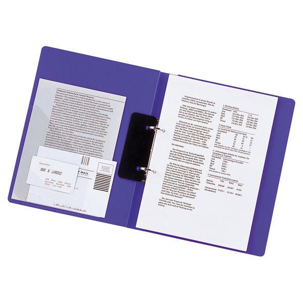 リヒトラブ リングファイル A4タテ 背幅27mm 青 F867U