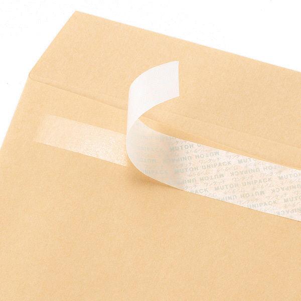 ムトウユニパック FSC認証クラフト封筒 テープ付 長3〒枠あり 100枚
