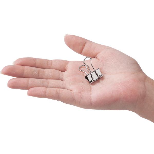 アスクル ダブルクリップ シルバー 小 幅19mm 100個