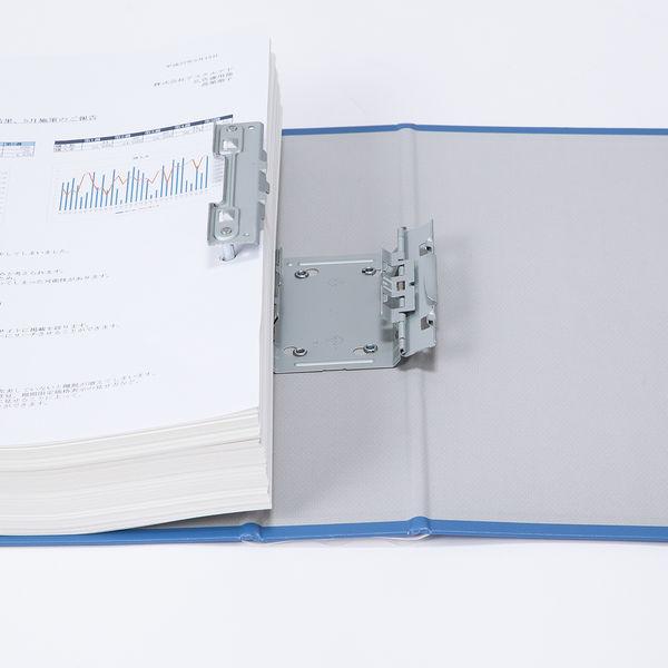 アスクル パイプ式ファイル両開き エコノミータイプ A3ヨコ とじ厚50mm背幅66mm ブルー 10冊