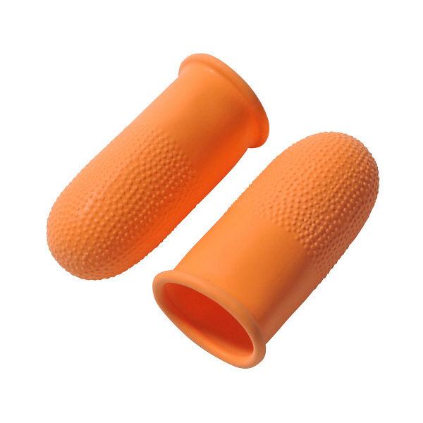 プラス オレンジ指サック KM-304K LL 35936 1セット(50個:10個入×5パック)