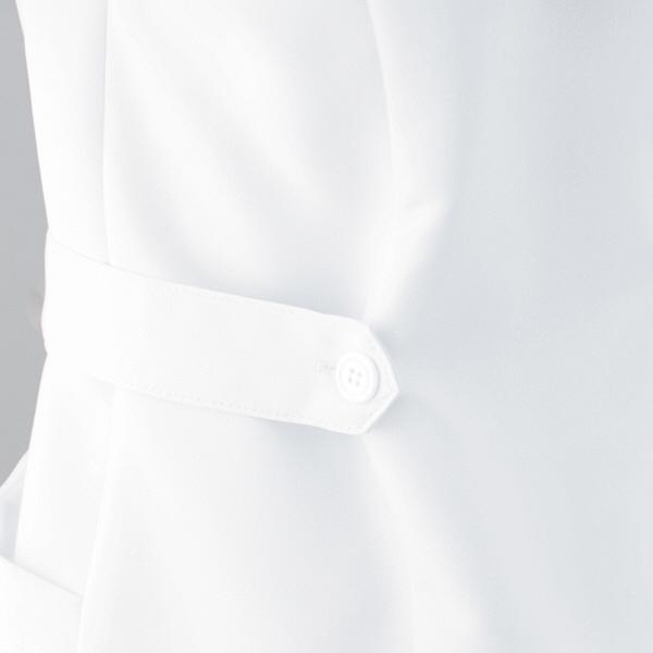 AITOZ(アイトス) ナースジャケット(パイピング) 女性用 半袖 サックスブルー L 861338-007