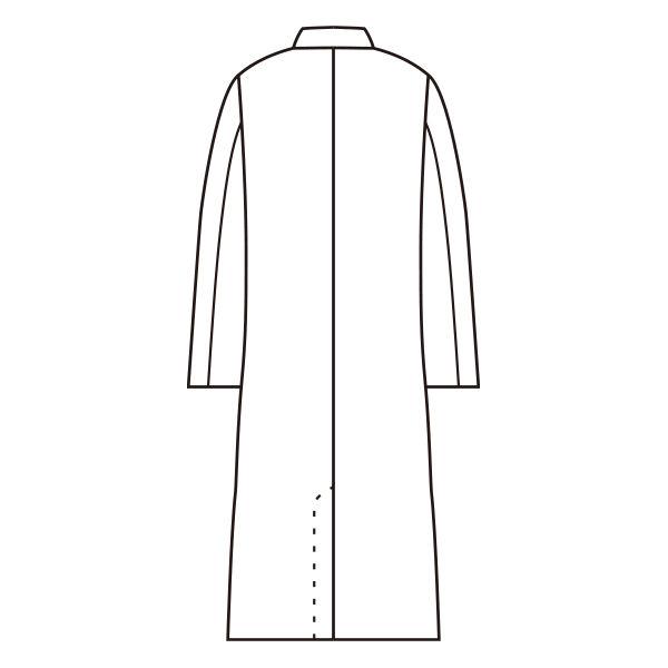 男子長袖診察衣(シングル)サックス L