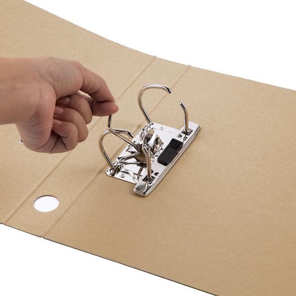 レバー式アーチファイル A4タテ 背幅43mm アスクル シブイロ ベージュ