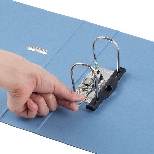 レバー式アーチファイル A4タテ 背幅66mm アスクル シブイロ ブルー
