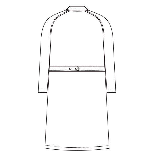 AITOZ(アイトス) レディスドクターコート(診察衣) 長袖 ホワイト シングル M 861312