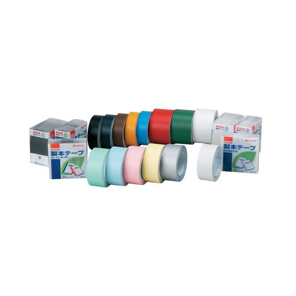 ニチバン 再生紙製本テープ ロールタイプ 幅25mm×10m 黄 BK-25 2巻 (直送品)