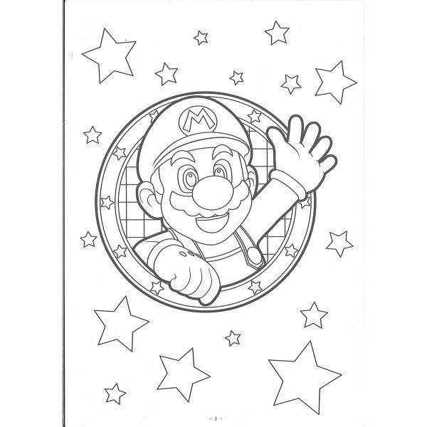 アスクルショウワノート B5ぬりえ スーパーマリオ 500644701 5冊