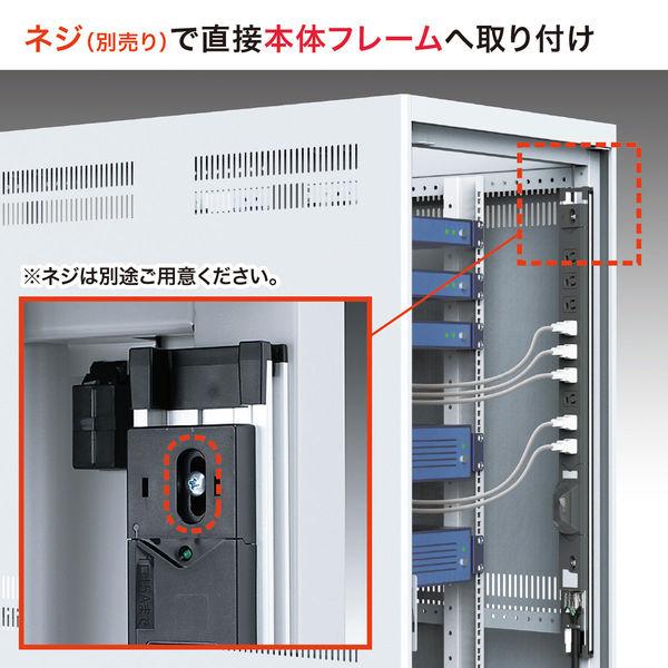 サンワサプライサーバーラック用コンセント19インチ用 3P式/12個口/3m/100V・15A/ブレーカー付/スリムタイプ TAP-SVSL2012B(直送品)