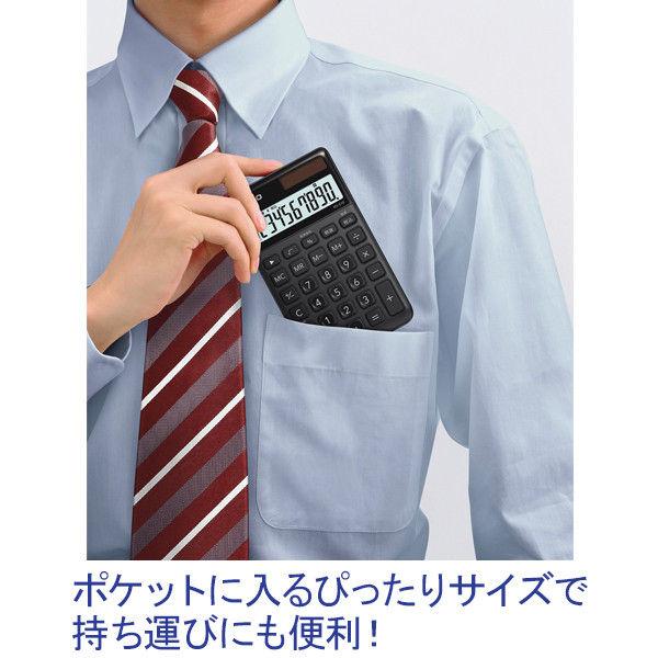 カシオ計算機 スタイリッシュ電卓大判手帳タイプ(ブラック) NS-S10-BK-N