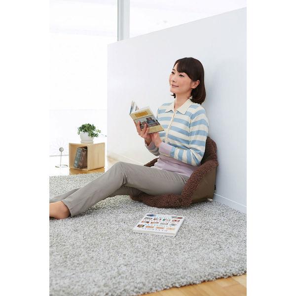 腰を包む座れる毛布 ダークブラウン