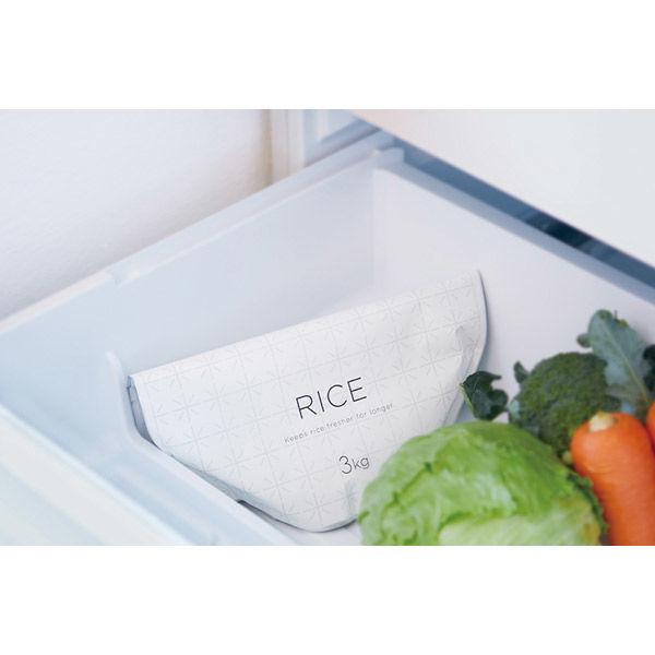 極お米保存袋 ホワイト