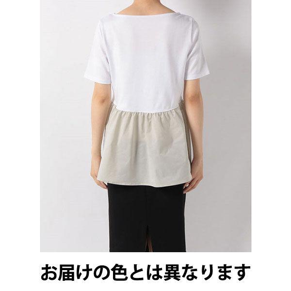 黒×黒Sタフタ切替えカットソー