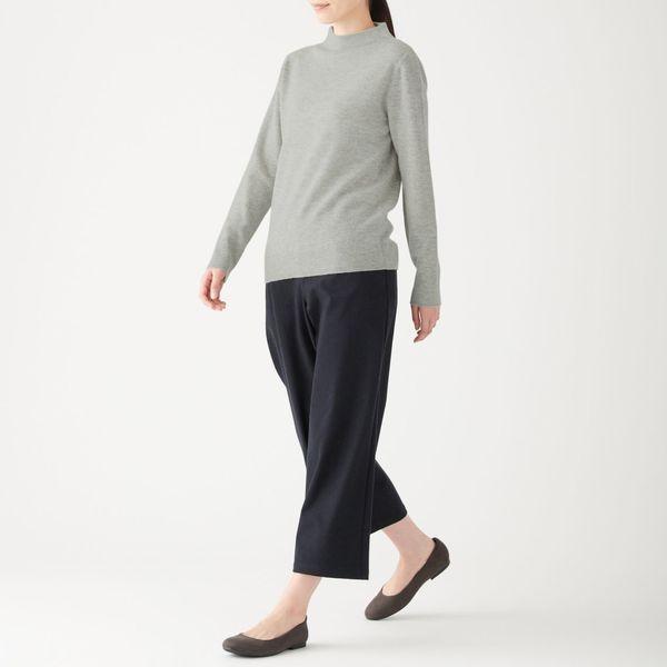 ヤク混ウールモックネックセーター 婦人S