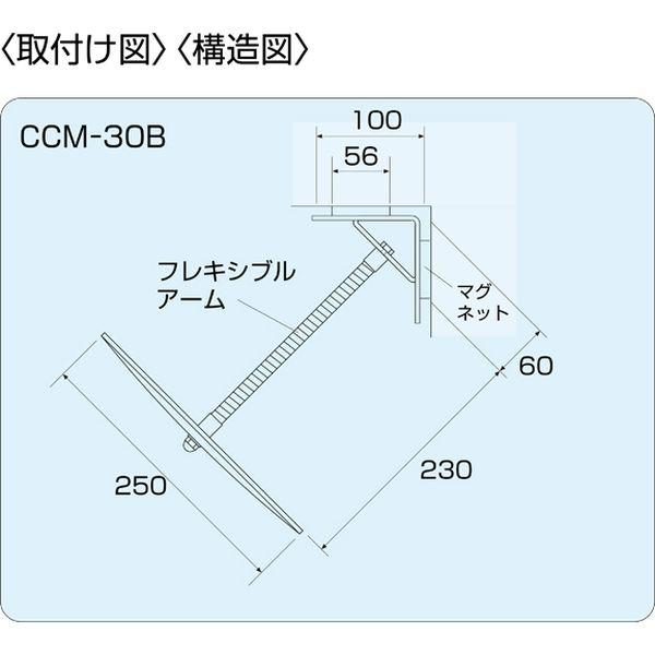 信栄物産 コーナー専用ミラー 250×250 マグネットタイプ CCM-30B(直送品)