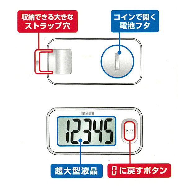 タニタ 3Dセンサー搭載歩数計