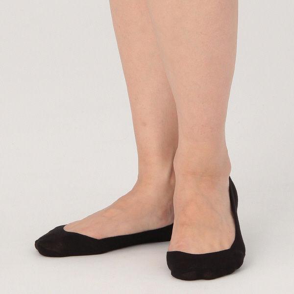 無印 滑り止め付浅履きフットカバー 婦人