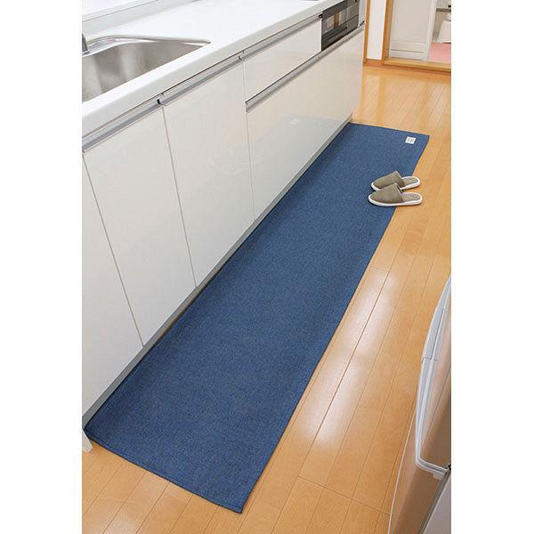 キッチンマット 56×250cm ブルー