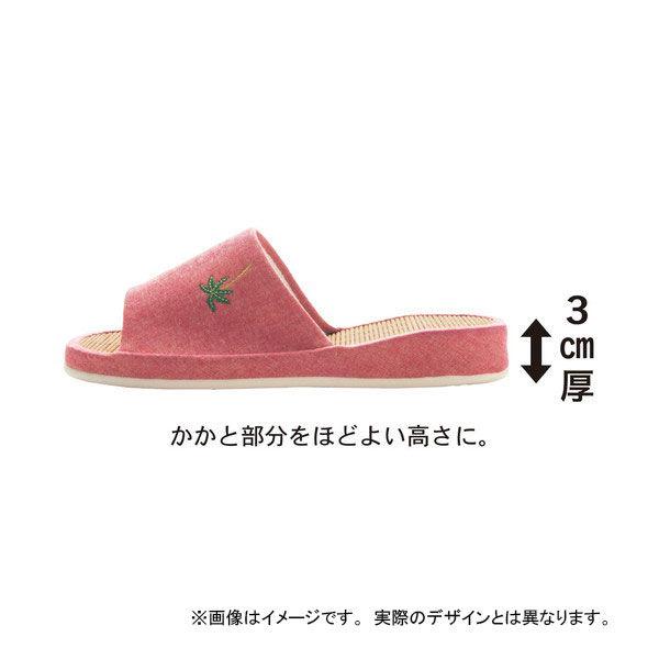 ひんやり竹スリッパイエロー(サボテン)L