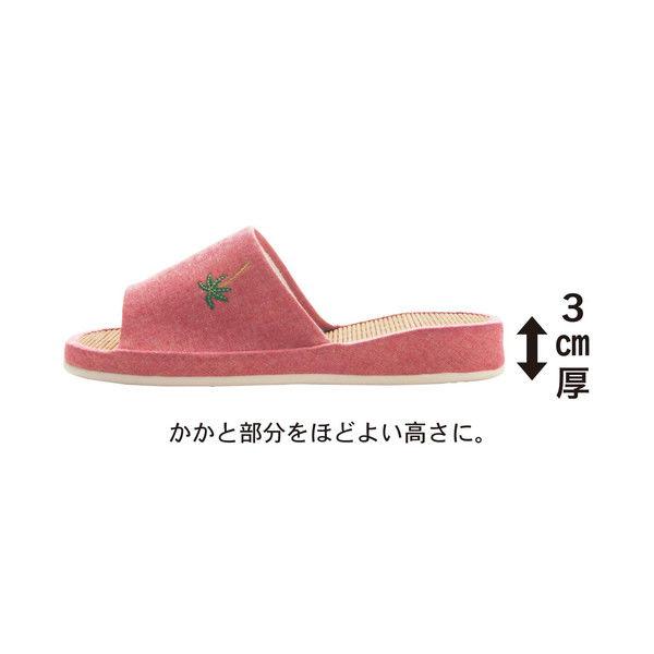 ひんやり竹スリッパエンジ(フラミンゴ)L