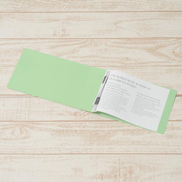 フラットファイル厚とじ A5横 緑30冊